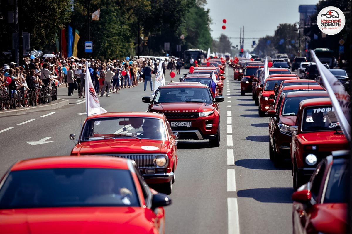 Картинки по запросу парад красных машин тюмень