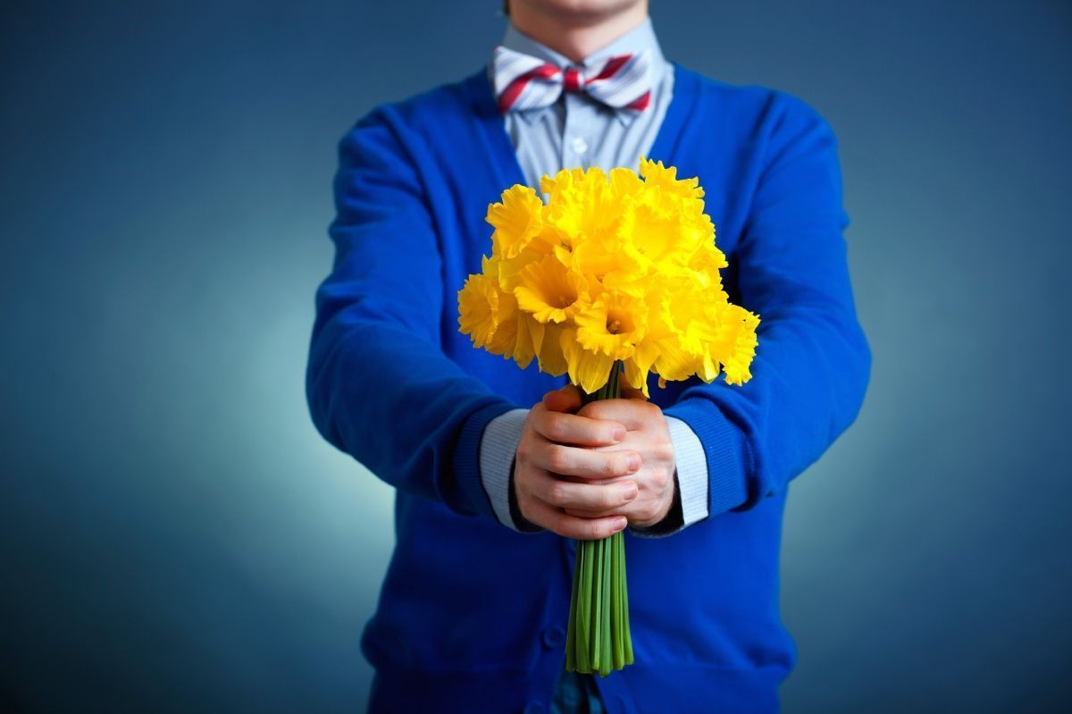 цветы дарят букет людей картинка быстрый рецепт