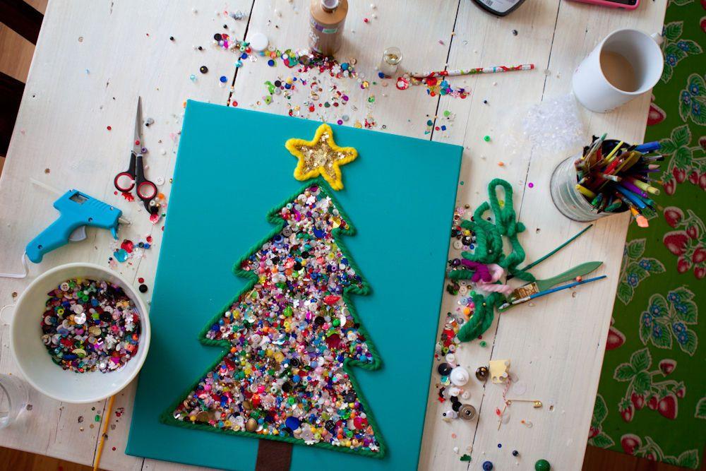 Открытки новогодние своими руками детские поделки фото